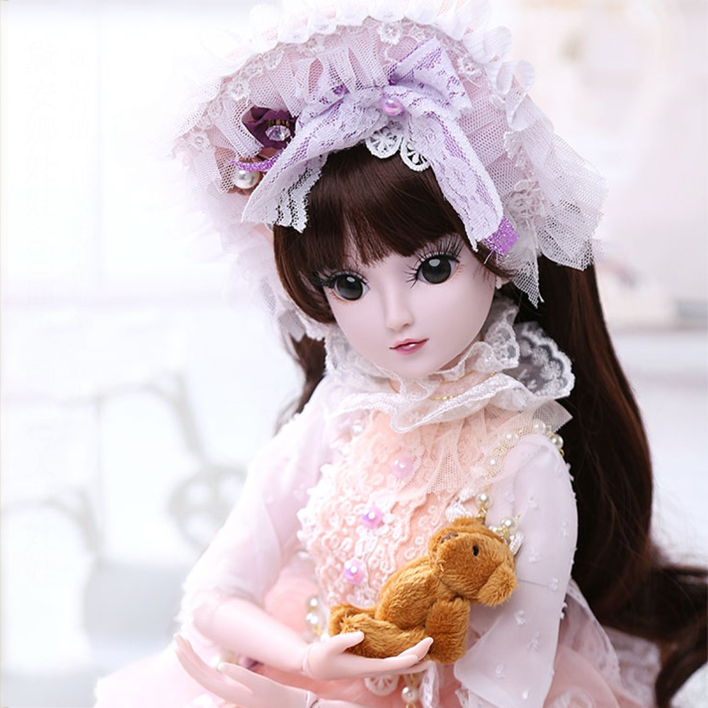 1/3 BJD Doll 60CM /23.6 height 19 Ball Jointed Dolls (Wig+ Shoes +Clothes +Hair +Eyes+ Makeup) Toys Collection1/3 BJD Doll 60CM /23.6 height 19 Ball Jointed Dolls (Wig+ Shoes +Clothes +Hair +Eyes+ Makeup) Toys Collection