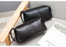 Oriental Element Fashion Handbag Clutch Wallet Purse for Men Real Genuine Leather Business Organizer Mochila