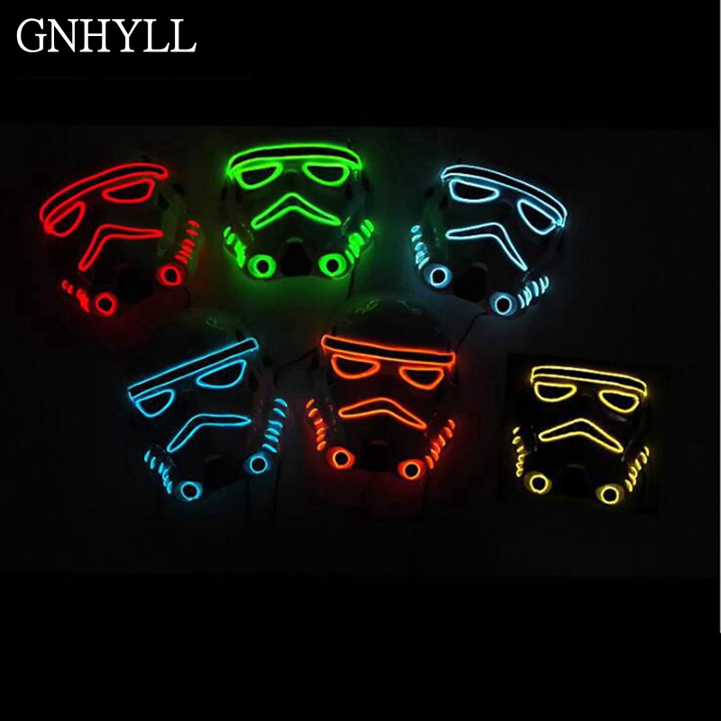 GNHYLL 10 farbe mode Film Thema Halloween Maske EL Draht LED Neon ...