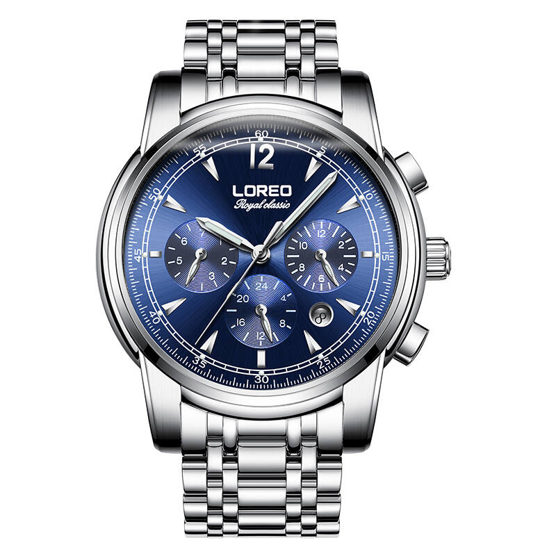 LOREO 6105 Germany watches men luxury brand automatic stainless steel sapphire diamond automatic mechanical multifunction watch 2017ailang luxury brand new ultra thin automatic mechanical watches is simple and stylish men watch sapphire watch steel