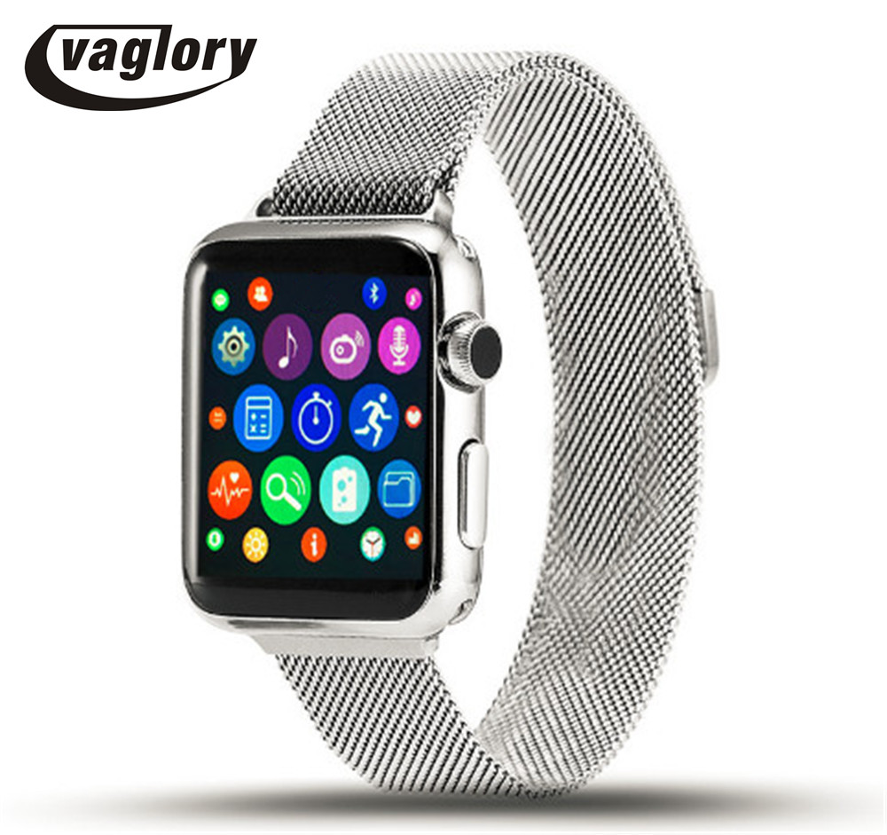 IWO2 Smart Watch Upgrade 42mm Smartwatch MTK2502C With Heart Rate Monitor WhatsApp Bluetooth IWO 2 for Android iOS Phone PK IWO