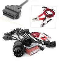 8Pcs Car Cables OBD2 OBDII Adapter Connectors for Delphi CDP Automotive Diagnostic