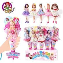 1pcs kawaii Lelia lutka moda Lutke za djevojčice igračke Zglobovi mogu biti savijen slatka Gift Box Igračka za djevojčice Djeca djeca rođendan Pokloni