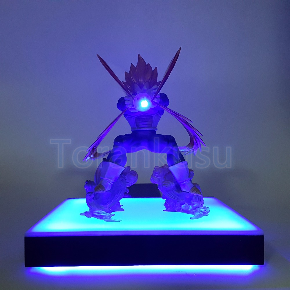 Dragon Ball Z Action Figure Vegeta Kamehameha Led Lighting Base DIY Display Model Toy Dragon Ball Super Saiyan Toy DIY124