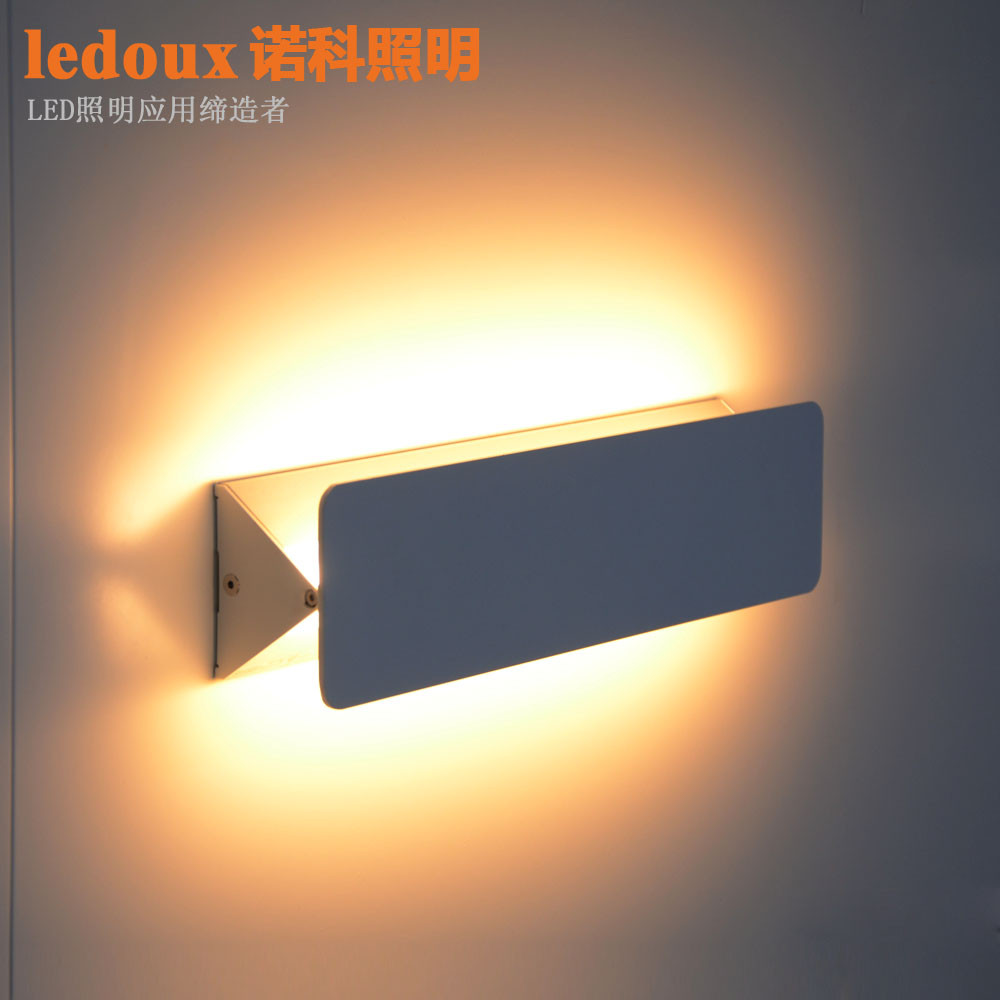 ФОТО Modern fashion brief bedroom bedside led wall lamp home deco 3w/6w ofhead stair aluminum wall sconce light fixture