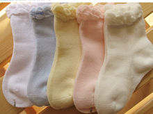 2016 NEW High Quality Best Selling 0-1 Years Comfortable Baby Socks Pure Color Cotton Children's Hosiery