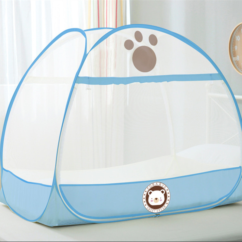 Children Room Decor Kid Bed Mosquito Net Folding Tent For 0-6 Years Old Baby Mongolian Yurts Canopy decoracion bebe Bear Pattern