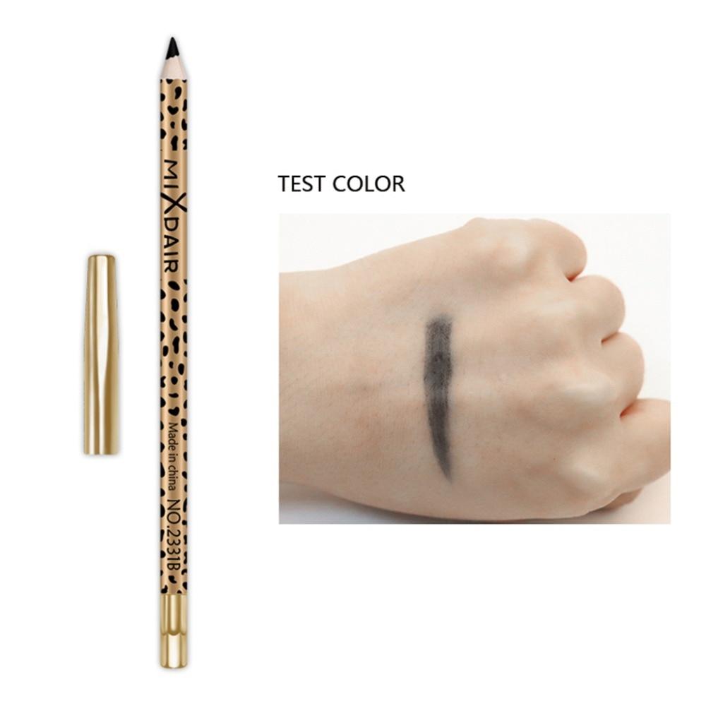 MIXDAIR eyebrow pencil 2in1 multifunction eye makeup tool waterproof long lasting Leopard Print eyebrow tattoo pen MD005 2