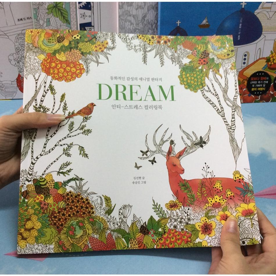 Coloring book untuk dewasa - 82 Halaman Mimpi Orang Dewasa Buku Mewarnai Grafiti Lukisan Gambar Secret Garden Colouring Buku Untuk