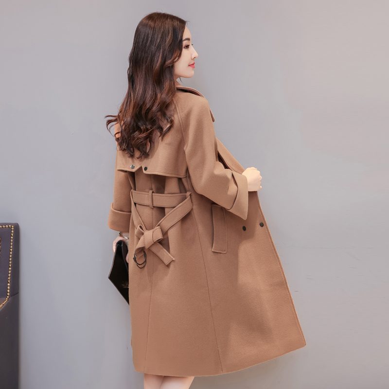 2017 autumn and winter new womens Korean version of long lace loose thin thick hair coat