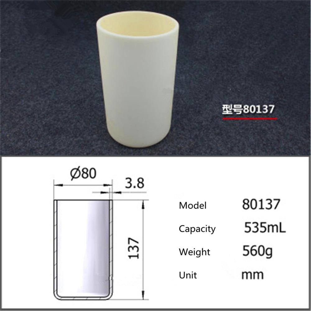 99.5% Cylindrical corundum crucible/535ml 80137/Temperature resistance 1600 degree / sintered ceramic crucibl99.5% Cylindrical corundum crucible/535ml 80137/Temperature resistance 1600 degree / sintered ceramic crucibl