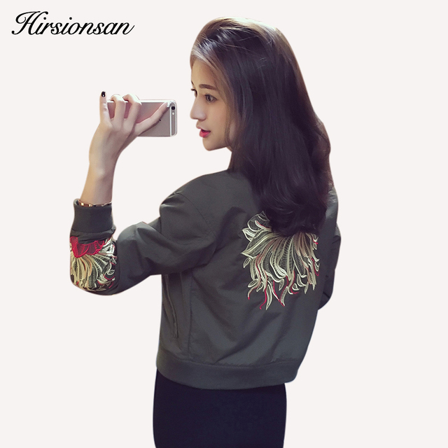 2017 Europe Fashion Women Baseball Jackets Casual Cotton Printed Batwing Sleeve Bomber Jacket Spring Black Zipper Basic Jacket