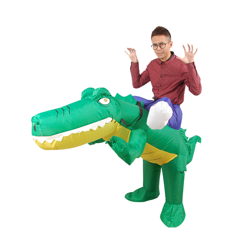 Onesies Inflatable Crocodile Costume Ride On Alligator Animal Cosplay Suits  Blow Up Adult Fancy Dress For Halloween Carnival On Aliexpress.com |  Alibaba ...