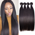 "Brazilian Virgin Hair Straight 4 Bundles Straight Virgin Hair Mink Brazilian Straight Hair Bundles 8-26"" Top Straight Human Hair"