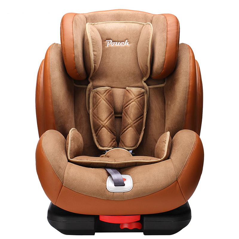 Pouch Luxury PU Leather Child Safety Car Seat For 9 Months