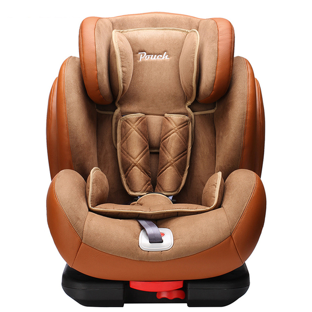 Pouch Luxury PU Leather Child Safety Car Seat For 9 Months 12 Years Old Kids