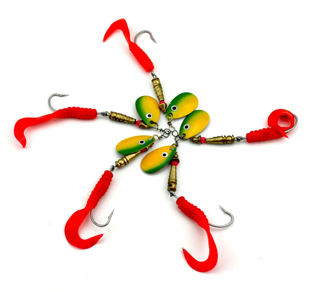 Metal Sequin Spinners Ribbon Worm Tail