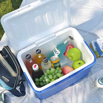 8L Mini Dual Use Car Refrigerator Home Freezer Thermal Heat Preservation And Cold Icebox Portable Travel Camping Cooler Box - DISCOUNT ITEM  17% OFF All Category