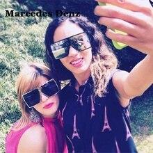 Baratos gafas de Sol de Gran Tamaño Mujeres Square Flat Top Blanco Negro Señoras Grandes Gafas de Sol de Espejo Femeninos 2018 uv400 gafas de sol