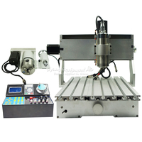 China CNC Machine 6040 V+H 4 Axis Mini Router 2200W VFD Water Cooling Spindle Metal Wood Milling Kit