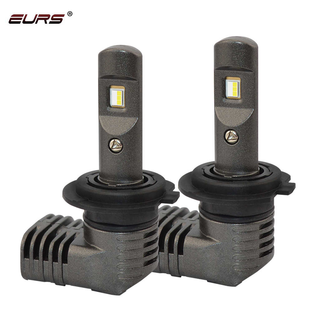 EURS 2PCS H7 LED Mini Car Headlight Bulbs P10 H1 LED H7 H8 H9 H11 5202 D1 PSX24W Headlamps Kit 9005 HB3 9006 HB4 Auto LED Lamps