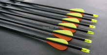 Free shipping 12 pcs 30 inch 100% pure carbon arrow spine 800 ID4.2mm fixed bullet point shooting practice archery bow outdoor