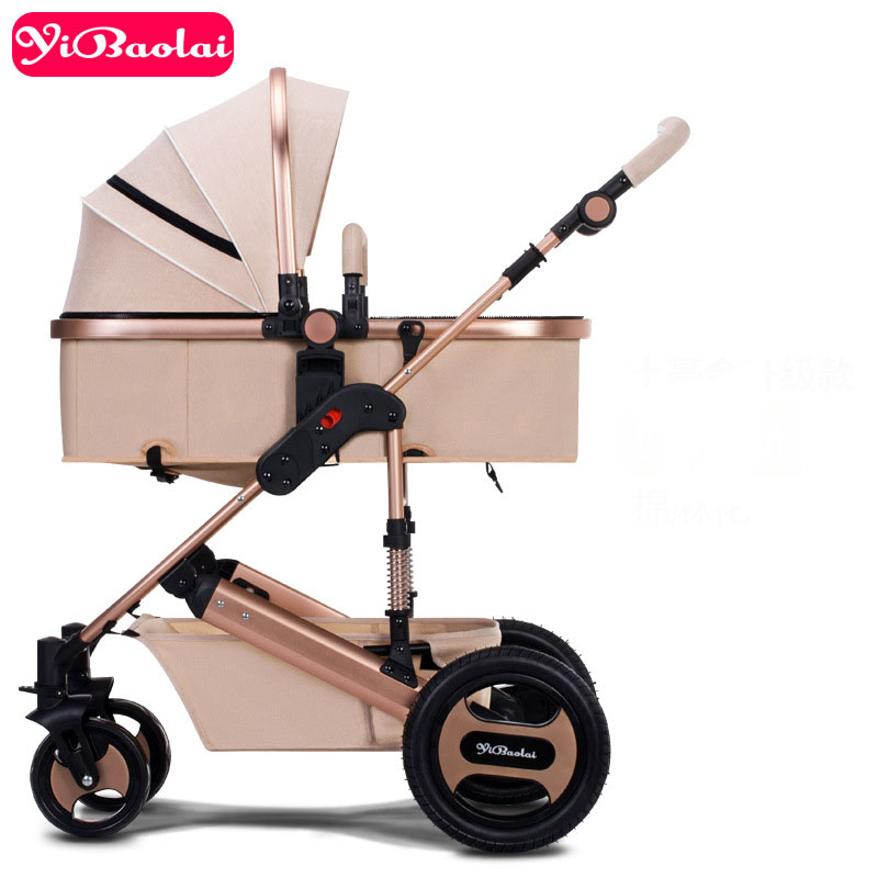 High Landscape Baby Stroller Royal Family 2-in-1 Luxury Trolley can  Folding Two-way Four Wheel Shock Absorber Umbrella carts the family way