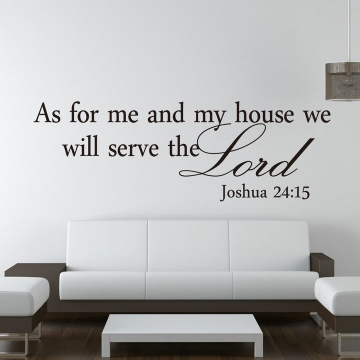 quot as for me and my house quot christian quote wall decals