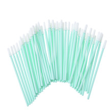 100/Pack Penyeka Fleksibel Kepala Sponge Busa Cleaning Swab Tongkat Bersih Tinta UV Digital Printer Grosir()