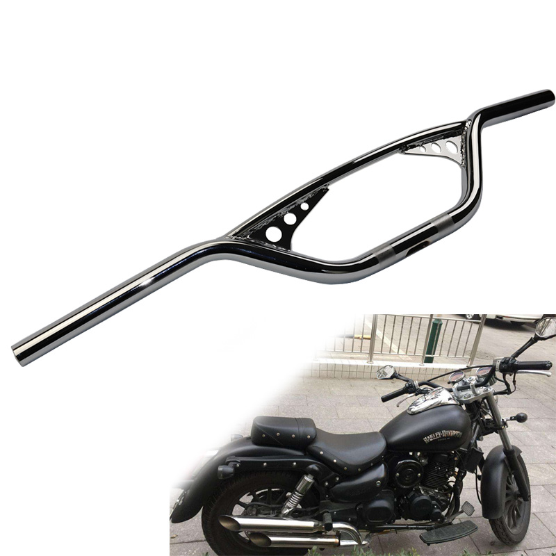 Chrome Motorcycle 25mm 1 inch Retro Front Handlebar Hand Bar For Harley Chopper Bobber Sportster X48 XL883 XL1200 Dyna cellular line book agenda чехол для samsung galaxy s6 edge black 24065
