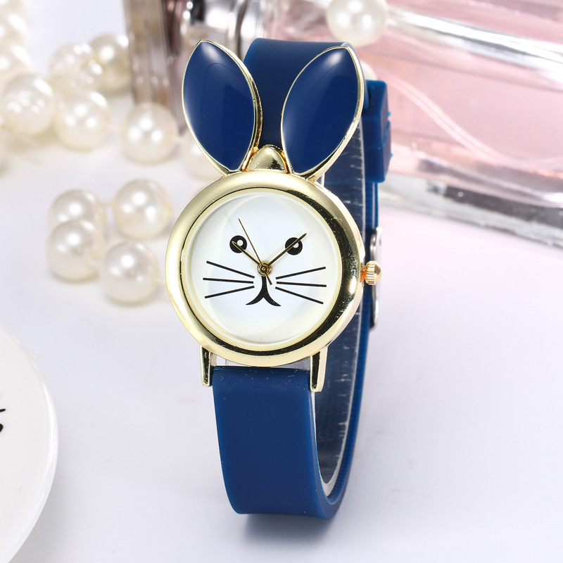 2019 New Lovely Silicone Children's Watches Creative Cartoon Watches Girls Sport Watch Kids Wristwatches Blue Christmas Gifts