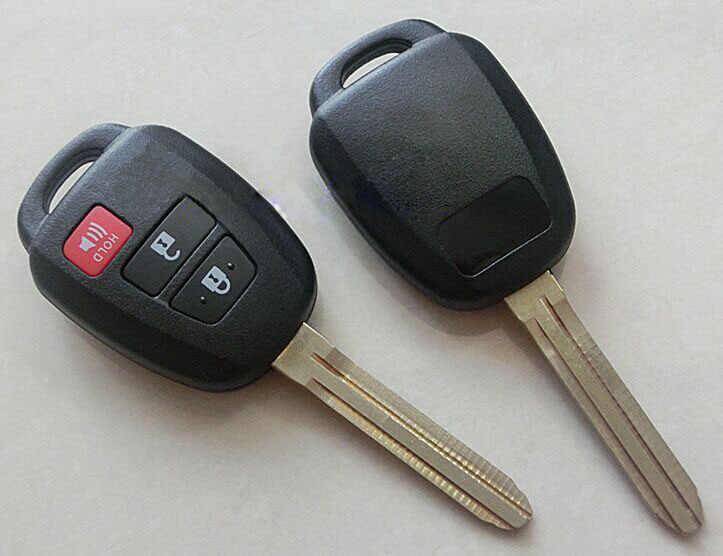 3 زر مفتاح بعيد حالة قذيفة ل Toyota Zelas Reiz تاج كوستر سيينا لاند كروزر مفتاح فوب غطاء عادي بدون كتابة أو صور 10 قطعة/الوحدة