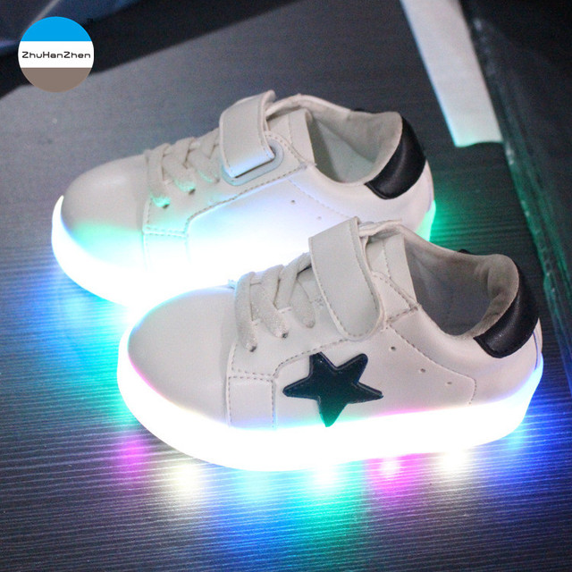 cda90905cf8a 2018 New kids LED light shoes 1 to 5 years old baby girls and boys casual