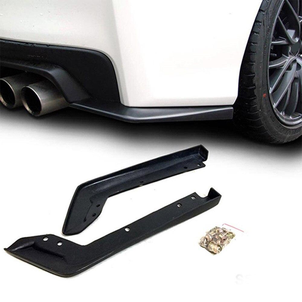 1x For 2015-2016 Subaru Impreza WRX Sti Rear Bumper Lip Spoiler Cap Splitter1x For 2015-2016 Subaru Impreza WRX Sti Rear Bumper Lip Spoiler Cap Splitter
