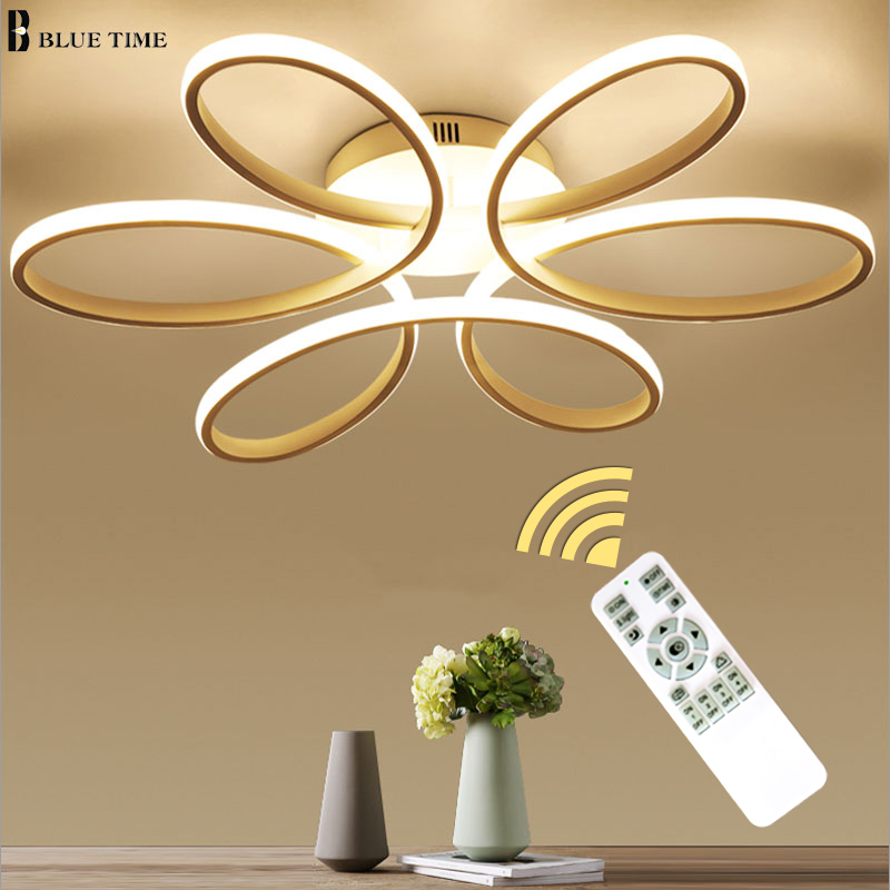 Новые светодио дный Современные светодиодные люстры для гостиной спальни столовая Люстра потолочная лампа затемнения домашнего освещения...