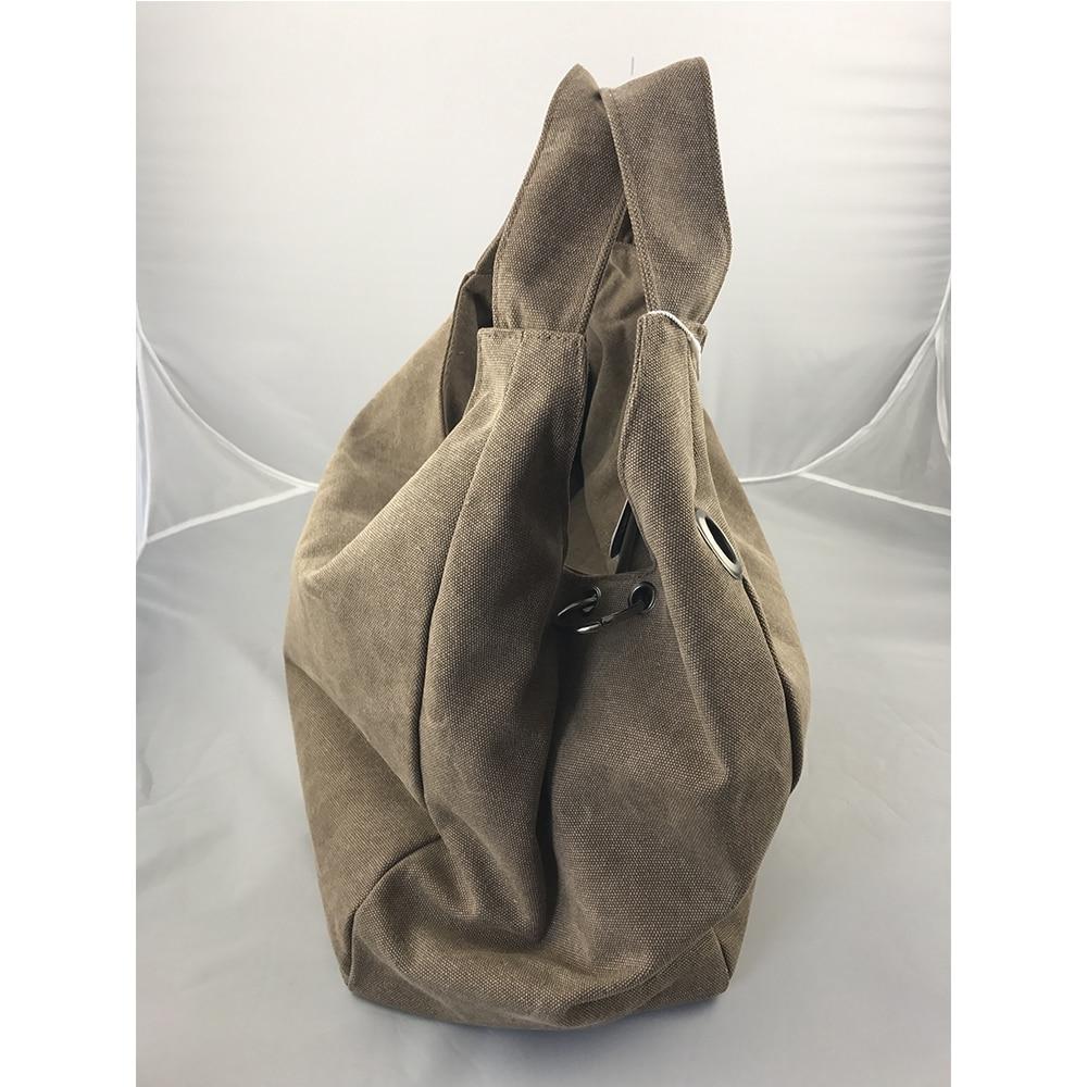 1492c0b3fa Promotion 100% Real Photo Durable Handbags Canvas Bolsa Feminina Casual Big  Tote Women Bags Hobo Clutch Bag Vintage Sac Femme-in Top-Handle Bags from  ...