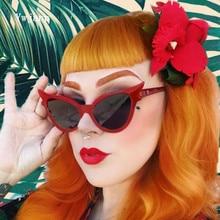 Ywjanp 2019 New Cat's eye Sunglasses Women Brand designer Trend street shooting