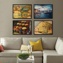 Building Abstract Wall Art Poster Print Seascape Canvas Painting Fruit Decorative Pictures Unframed prints Landscape Paintings sunset horses pattern unframed decorative canvas paintings