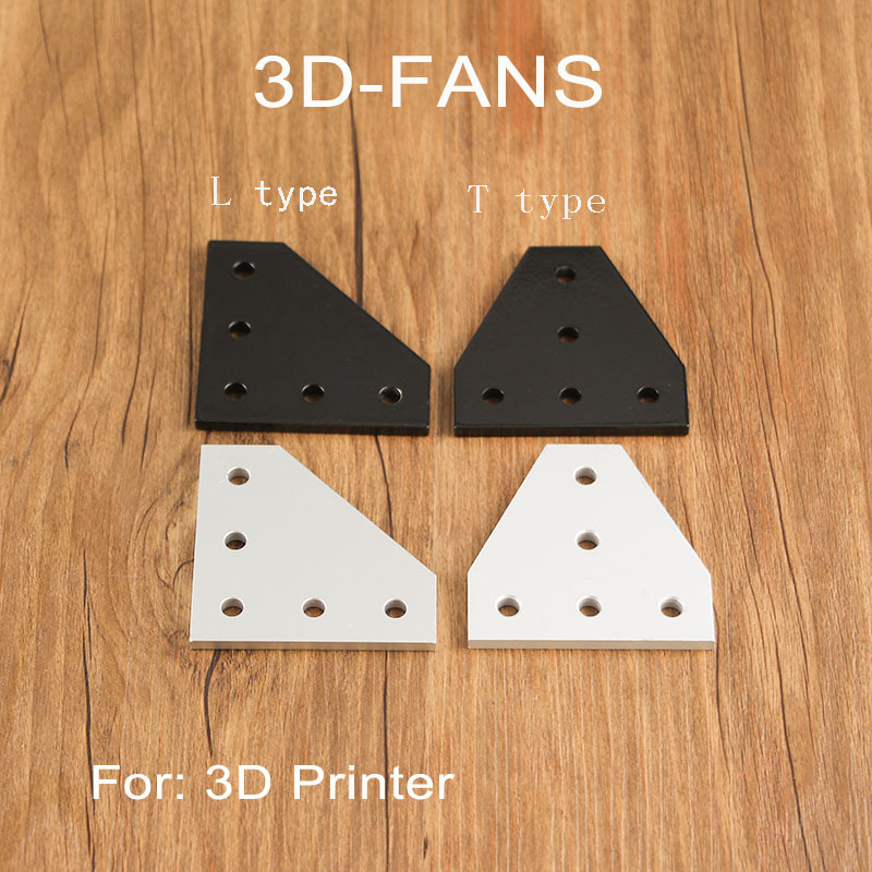 1pc 90 Degree 5 Holes  Joint Board Plate Corner Angle Bracket Connection Joint Strip For 2020 Aluminum Profile 3D Printer