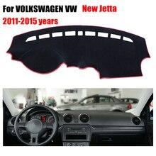 Приборной панели автомобиля охватывает мат для Volkswagen VW New Jetta 2011-2015 левой рукой дисков dashmat Pad Инструмент платформа аксессуары