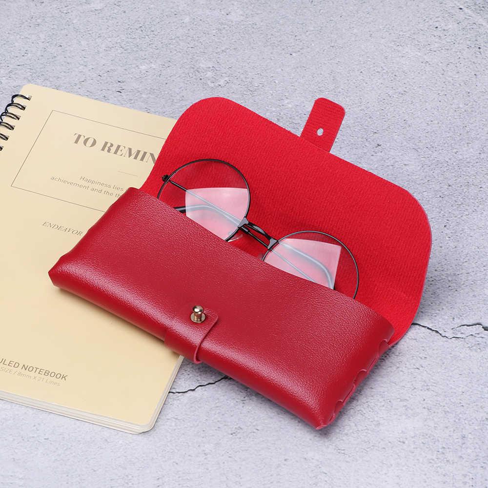 1PC Fashion Hot Sale Men Women Portable Glasses Case Magnetic PU Leather Fold-able Glasses Box For Eyeglass Oversize Sunglasses