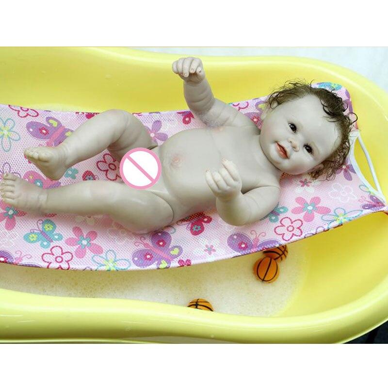 Muñeca de ducha 17 pulgadas completa de silicona Reborn Doll 45cm - Muñecas y accesorios - foto 3