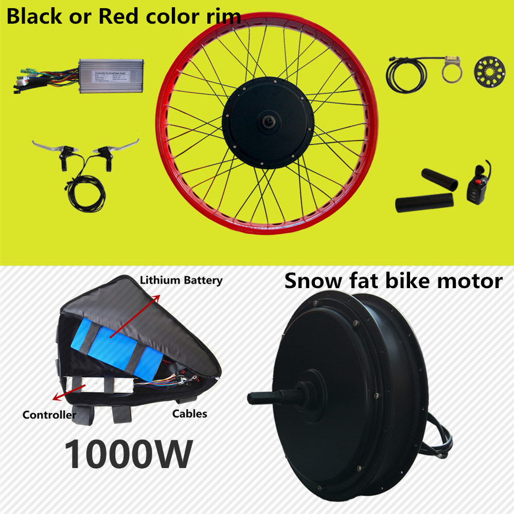 Front or rear motor 65km/h 48v 1500w electric fat bike conversion kit - Cycling - Photo 3