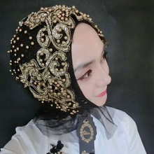 2019 Woman hijab Solid Color Rhinestone Shining Sequins Chiffon Silk Popular Shawls Scarf Headband Muslim Turban abaya Diamonds