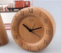 Thiết kế mới của Đức bằng gỗ sồi bàn Alarm Đồng hồ bằng gỗ đồng hồ báo thức đồng hồ điện tử để trang trí nhà hoặc phòng ng