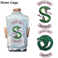 Homegaga RIVERDALE Southside Serpents Jacket Patches Embroidered Iron On Accessory New Arrival cosplay clothing Stickers D1132