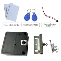125khz Rfid Keyless Hidden Locker Cabinet Lock Private Card Lock Castle Black Electronic Invisible Digital Cabinet