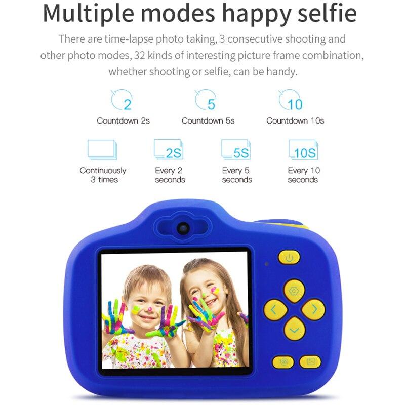 Caméra antichoc pour enfants avec caméscope à double objectif pour enfants en plein air S7JN - 3