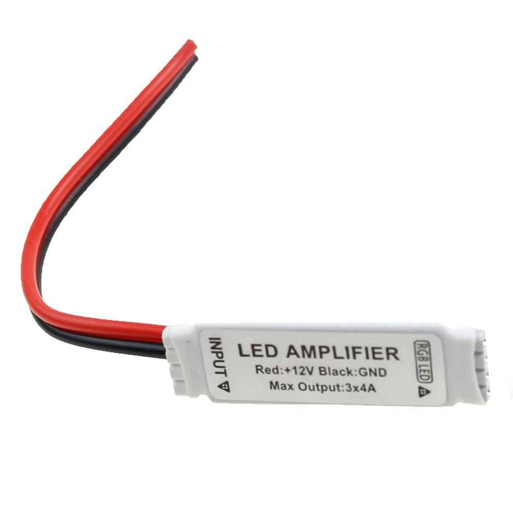 DC12V Mini led amplifier Controller for 5050 3528 rgb strip light signal amplifier 12V 3*4A 6A 12A 144W led strip accessory soto pocket torch