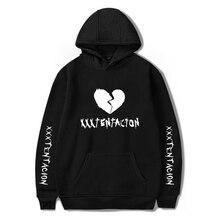 Новые моды xxxtentacion с капюшоном Рип хип-хоп рэпер толстовки Jahseh Дуэйн Onfroy месть мужской одежды